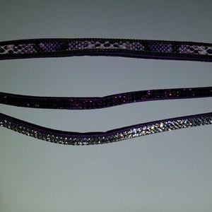 Accessories - Purple Choker Snakeskin & Rhinestones NWT